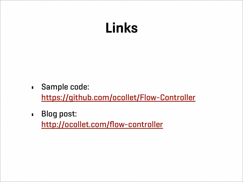 Links • Sample code: