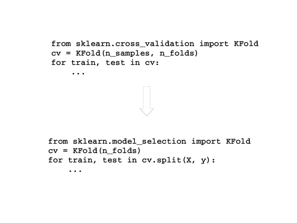 from sklearn.cross_validation import KFold cv =...