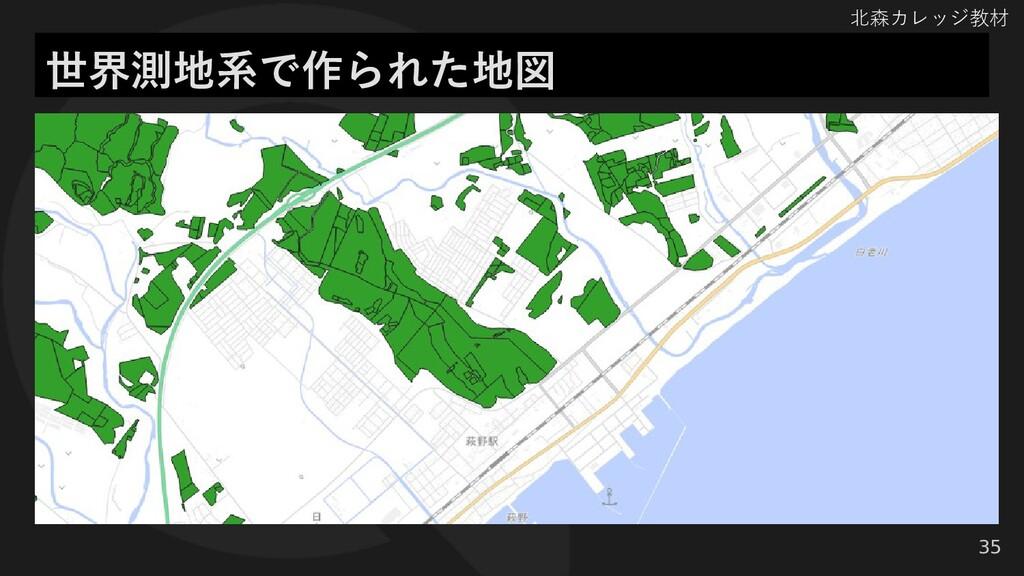 北森カレッジ教材 35 世界測地系で作られた地図