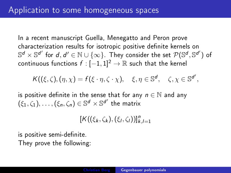 Application to some homogeneous spaces In a rec...