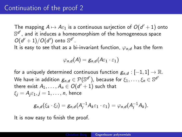 Continuation of the proof 2 The mapping A → Aε ...