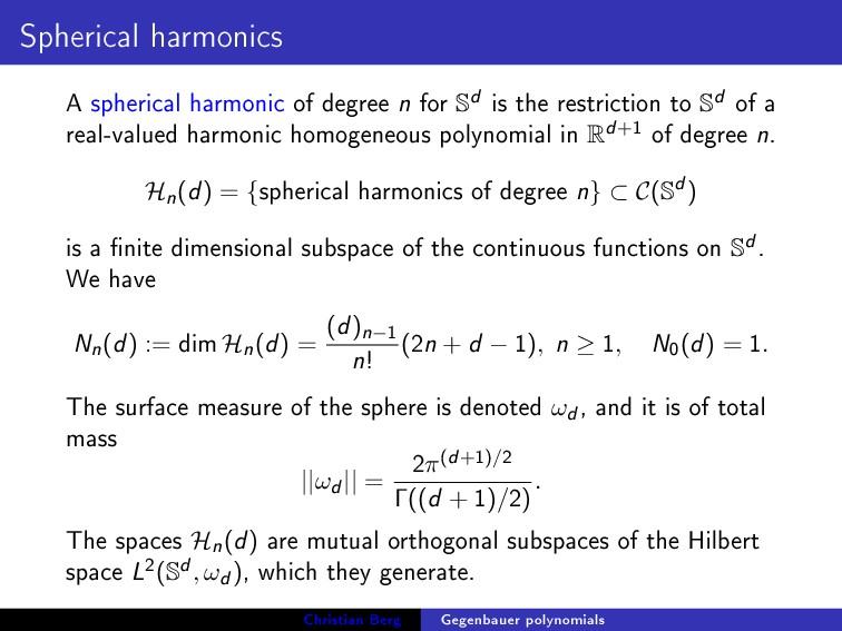 Spherical harmonics A spherical harmonic of deg...