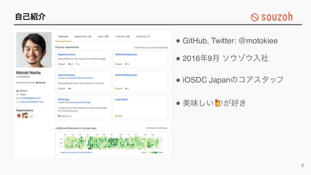 ࣗݾհ ! GitHub, Twitter: @motokiee ! 20169݄ ικ...