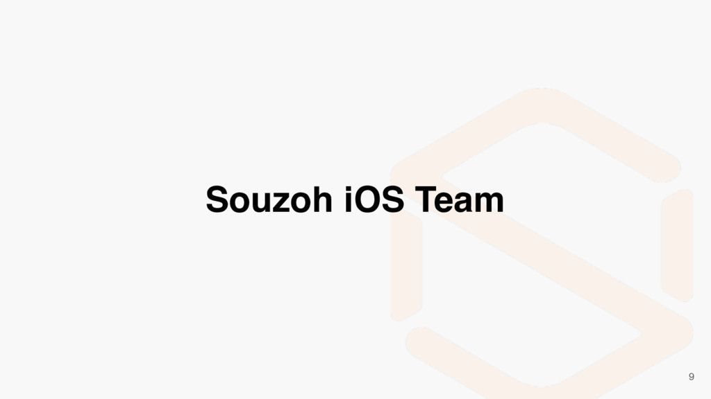 Souzoh iOS Team 9
