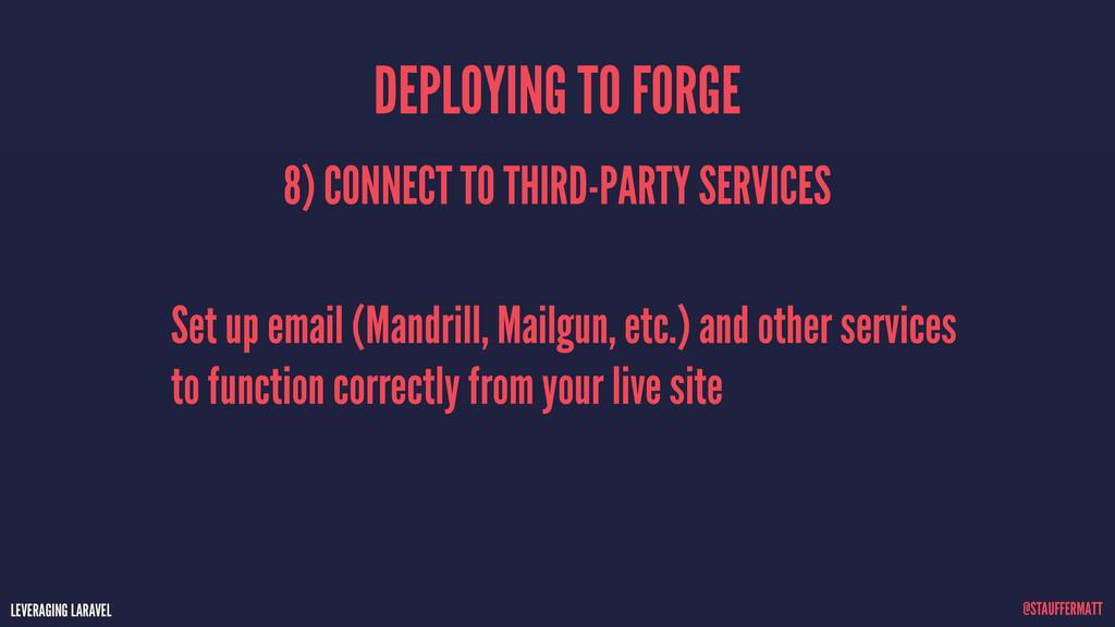 LEVERAGING LARAVEL @STAUFFERMATT Set up email (...