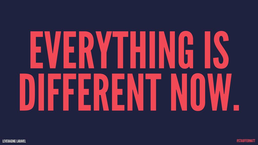 LEVERAGING LARAVEL @STAUFFERMATT EVERYTHING IS ...