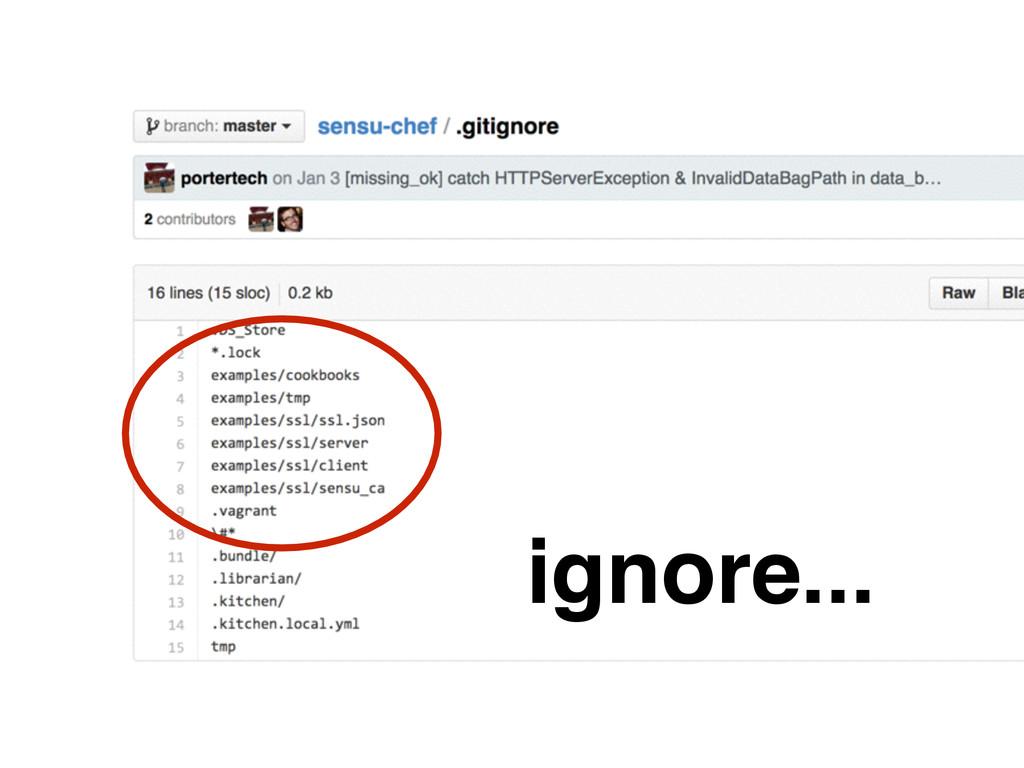 ignore...