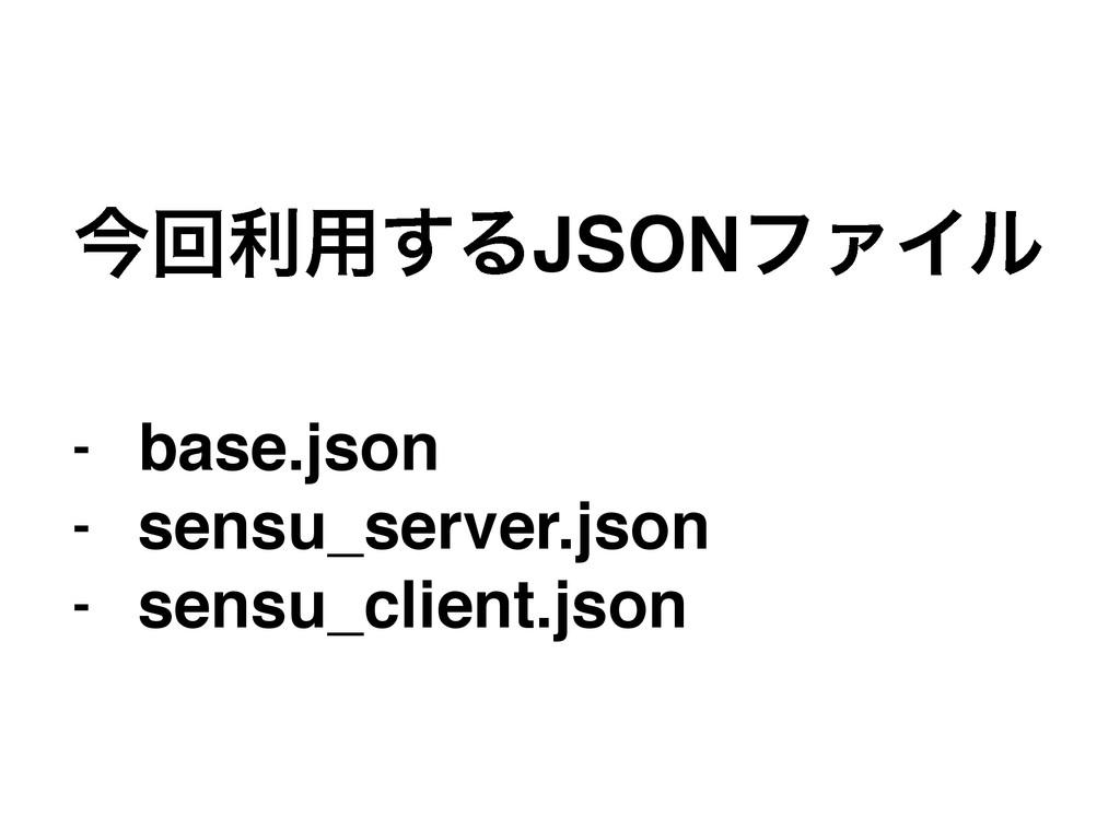 ࠓճར༻͢ΔJSONϑΝΠϧ! ! - base.json! - sensu_server.j...