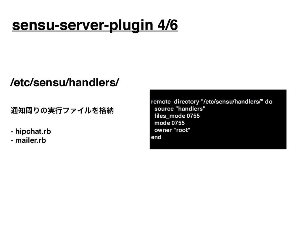 """sensu-server-plugin 4/6 remote_directory """"/etc/..."""