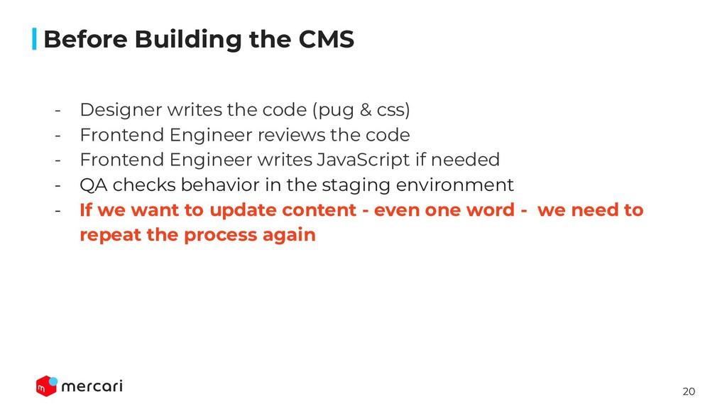 20 - Designer writes the code (pug & css) - Fro...