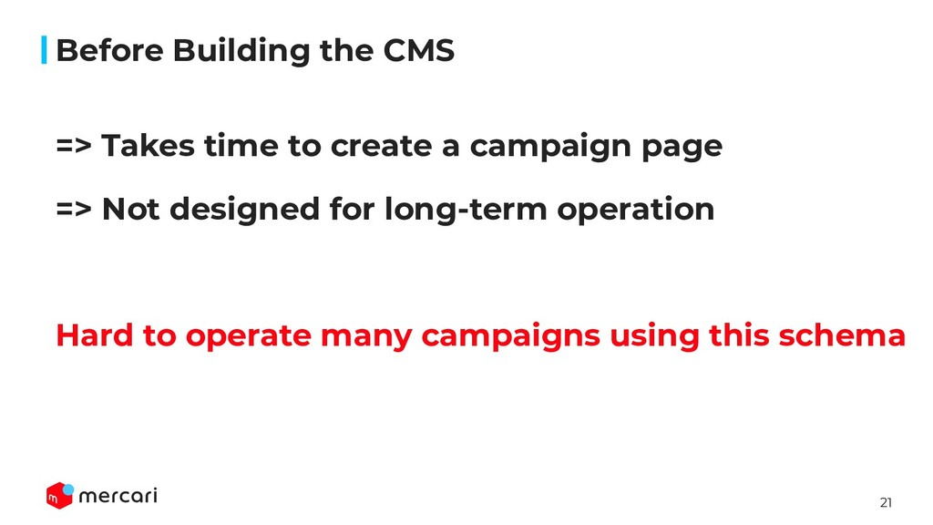 21 => Takes time to create a campaign page => N...