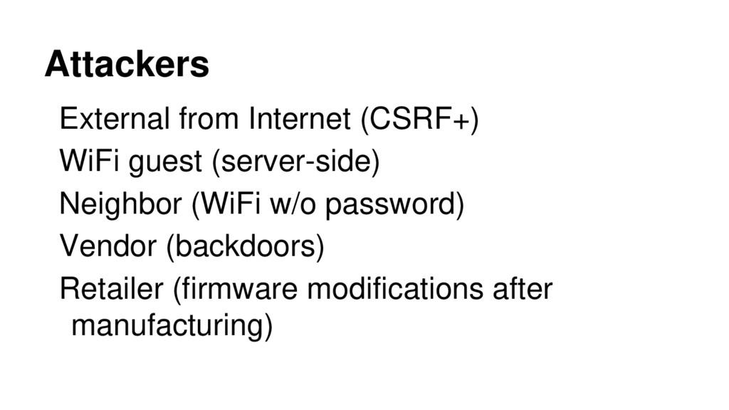 External from Internet (CSRF+) WiFi guest (serv...