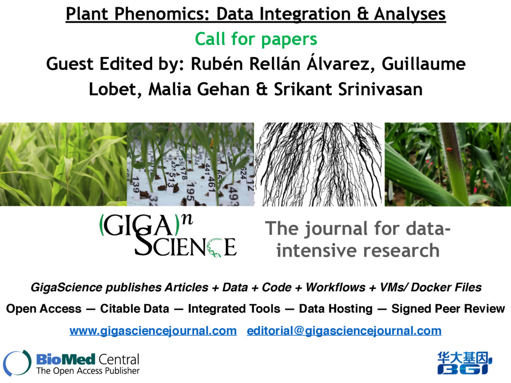 Plant Phenomics: Data Integration & Analyses Ca...