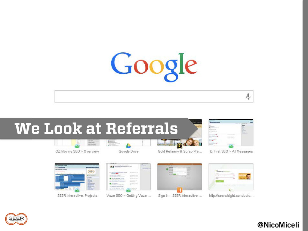 We Look at Referrals @NicoMiceli