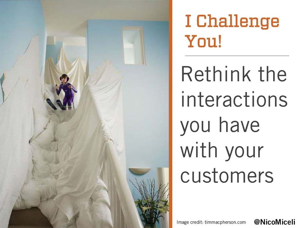 I Challenge You! Rethink the interactions you h...