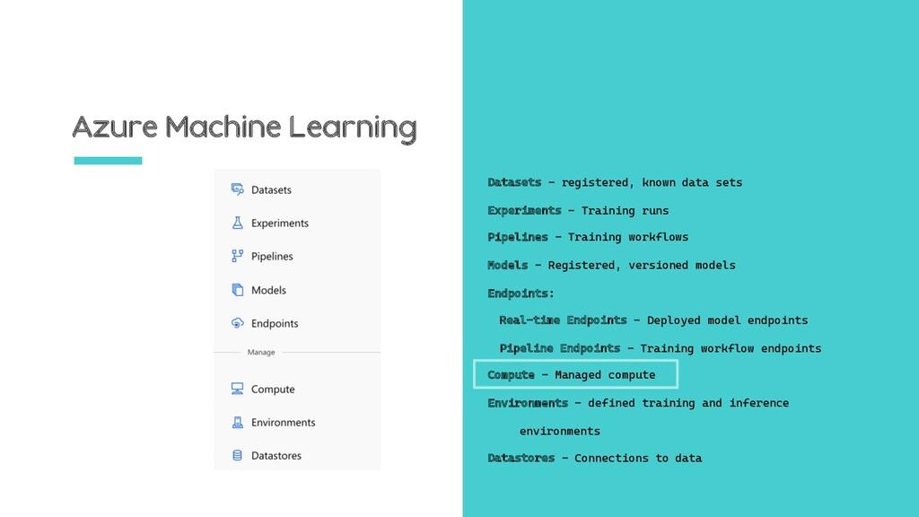 Azure Machine Learning Datasets – registered, k...
