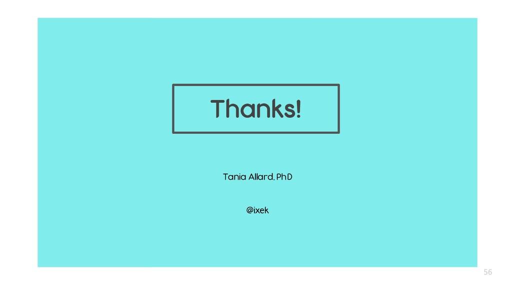 Tania Allard, PhD @ixek 56 Thanks!