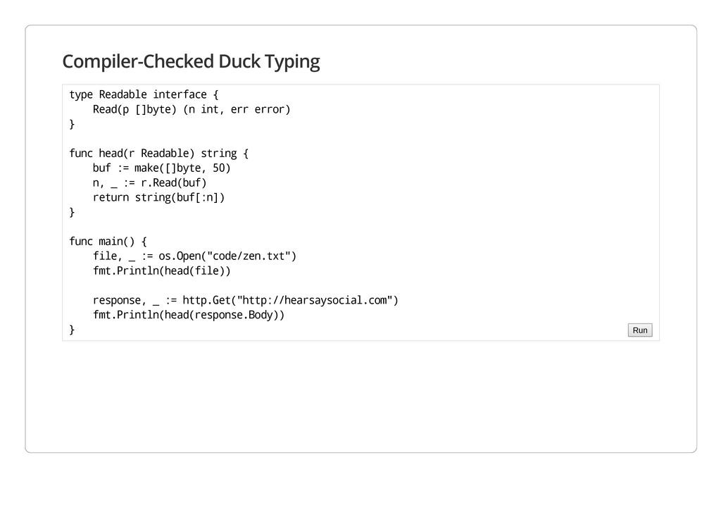 Compiler-Checked Duck Typing t y p e R e a d a ...