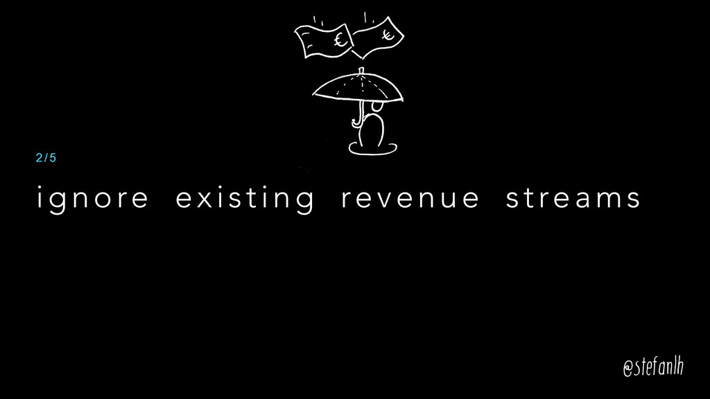 ignore existing revenue streams 2 / 5