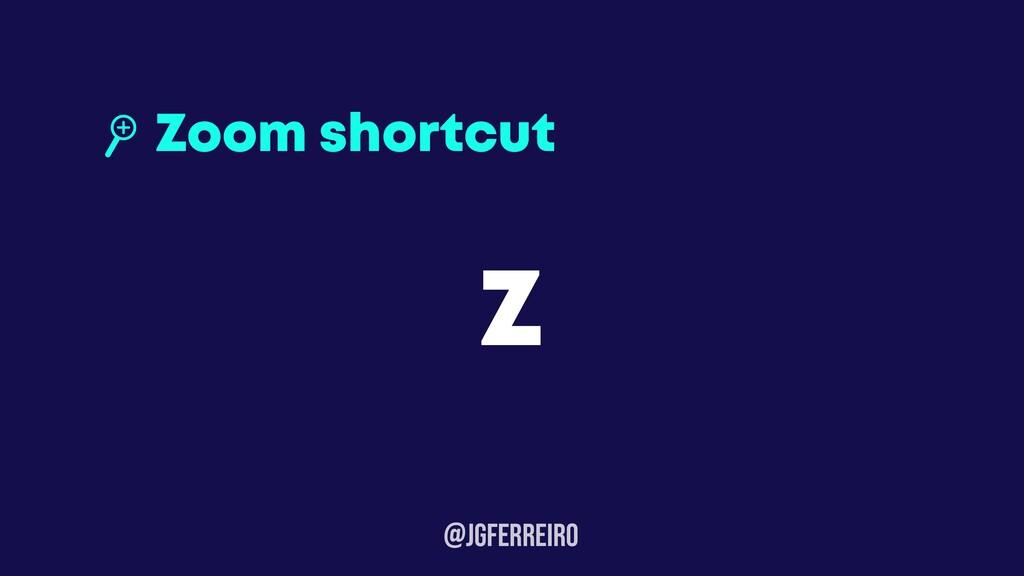 @JGFERREIRo Zoom shortcut Z
