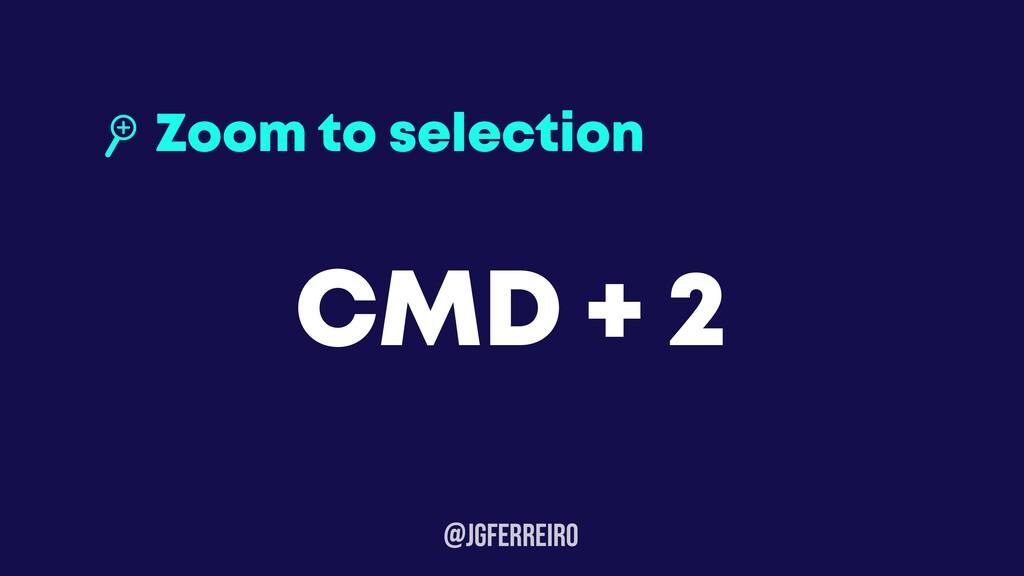 @JGFERREIRo Zoom to selection CMD + 2