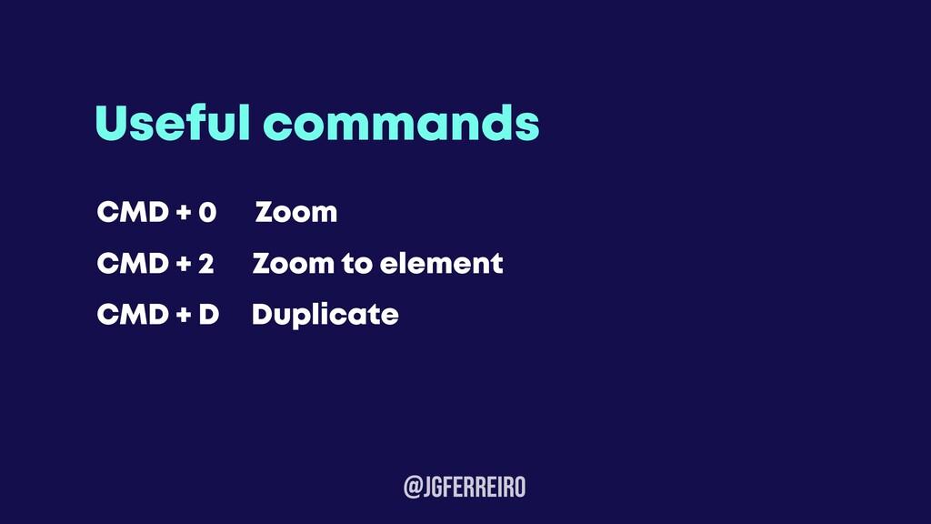 @JGFERREIRo Useful commands CMD + 0 Zoom CMD + ...