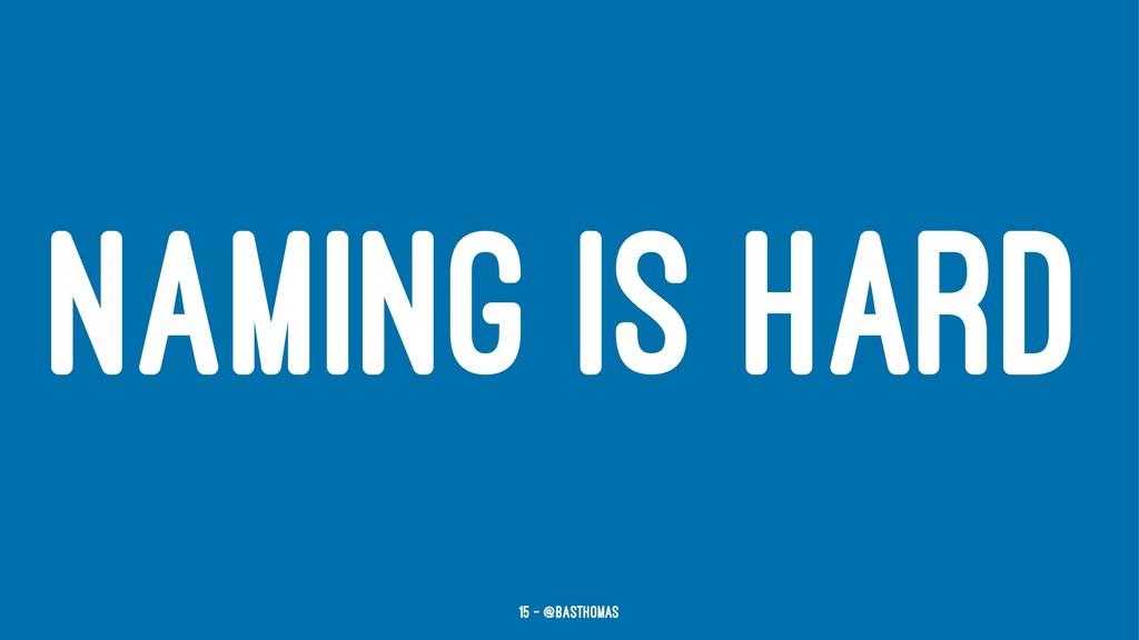 NAMING IS HARD 15 — @basthomas
