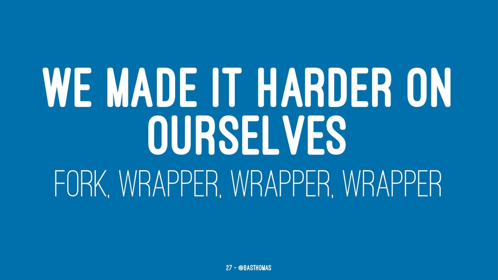 WE MADE IT HARDER ON OURSELVES FORK, WRAPPER, W...