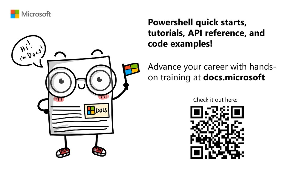 Powershell quick starts, tutorials, API referen...