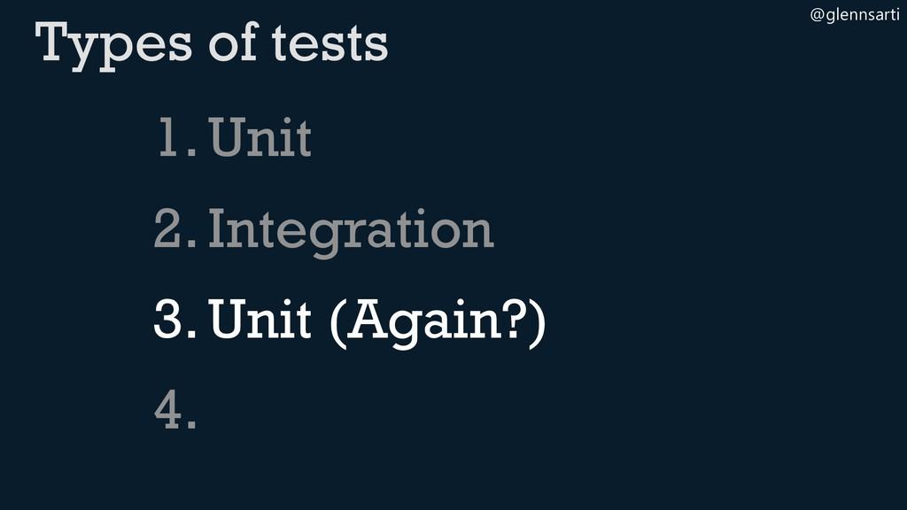 @glennsarti 1.Unit 2.Integration 3.Unit (Again?...