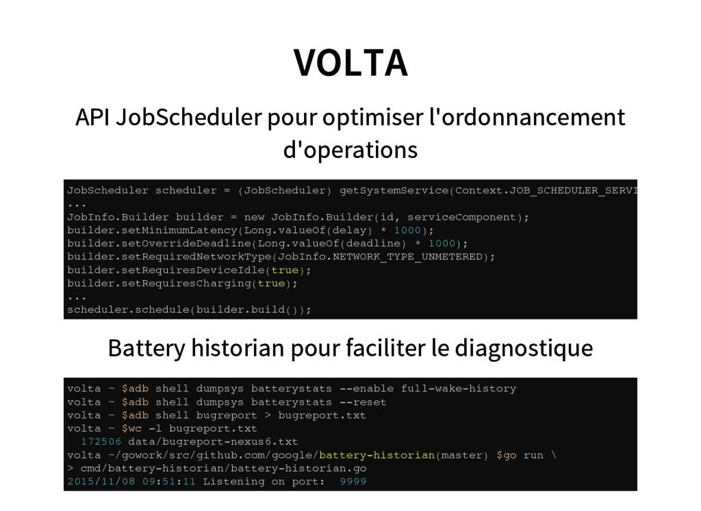VOLTA API JobScheduler pour optimiser l'ordonna...