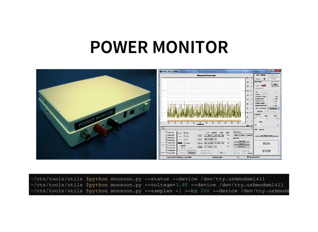 POWER MONITOR ~ / c t s / t o o l s / u t i l s...
