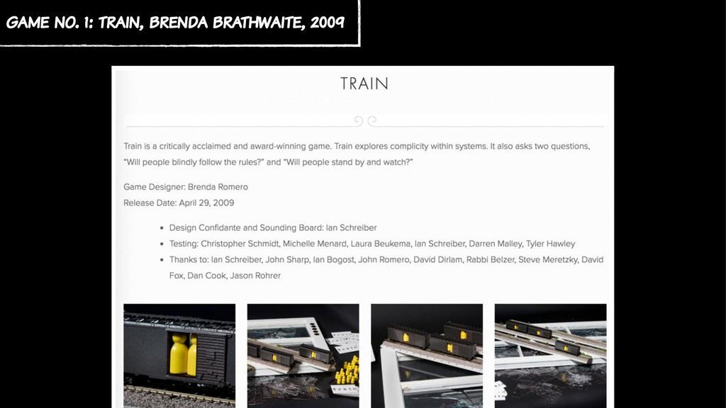 game no. 1: train, brenda brathwaite, 2009
