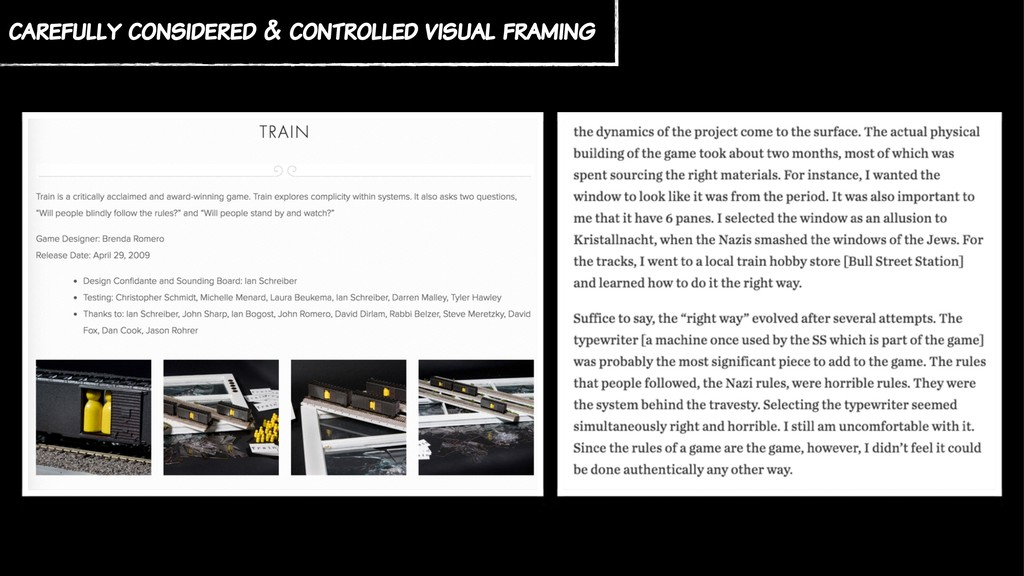 carefully considered & controlled visual framing
