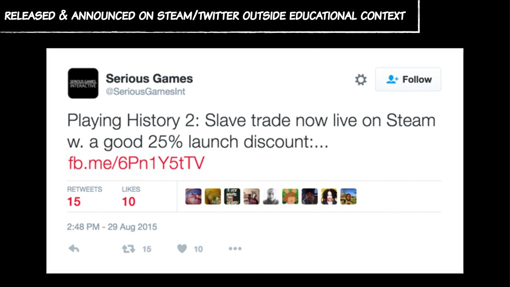 released & announced on steam/twitter outside e...