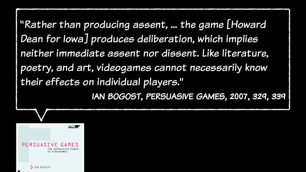 """""""Rather than producing assent, ... the game [Ho..."""