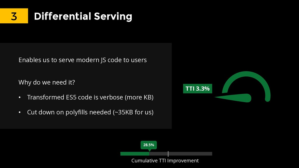 26.1% Differential Serving Enables us to serve ...