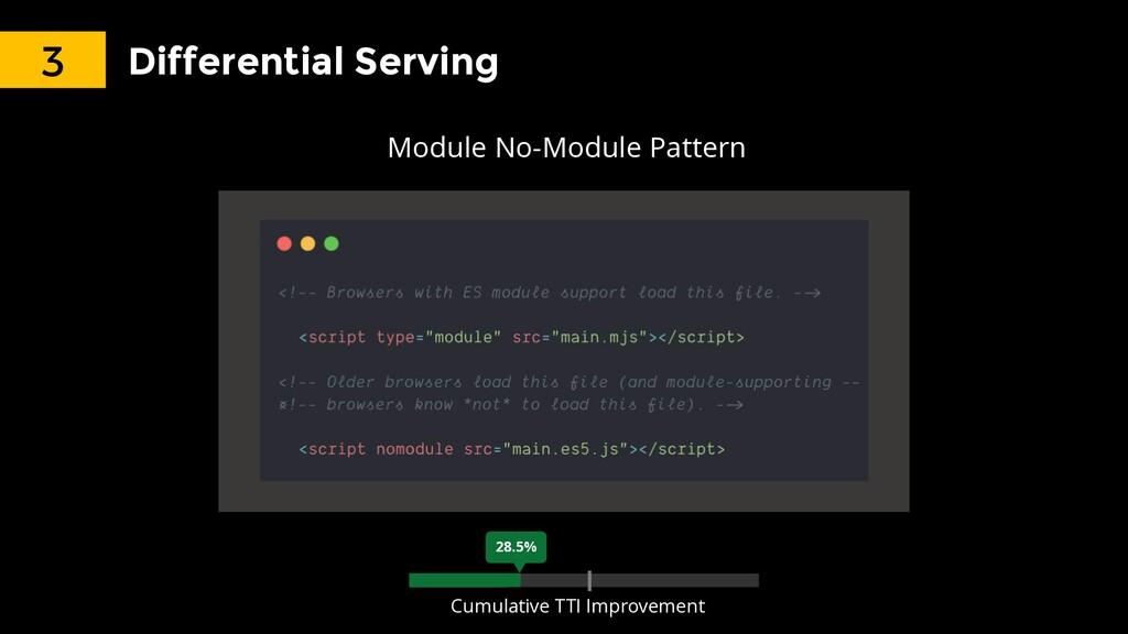 Differential Serving Module No-Module Pattern 3...