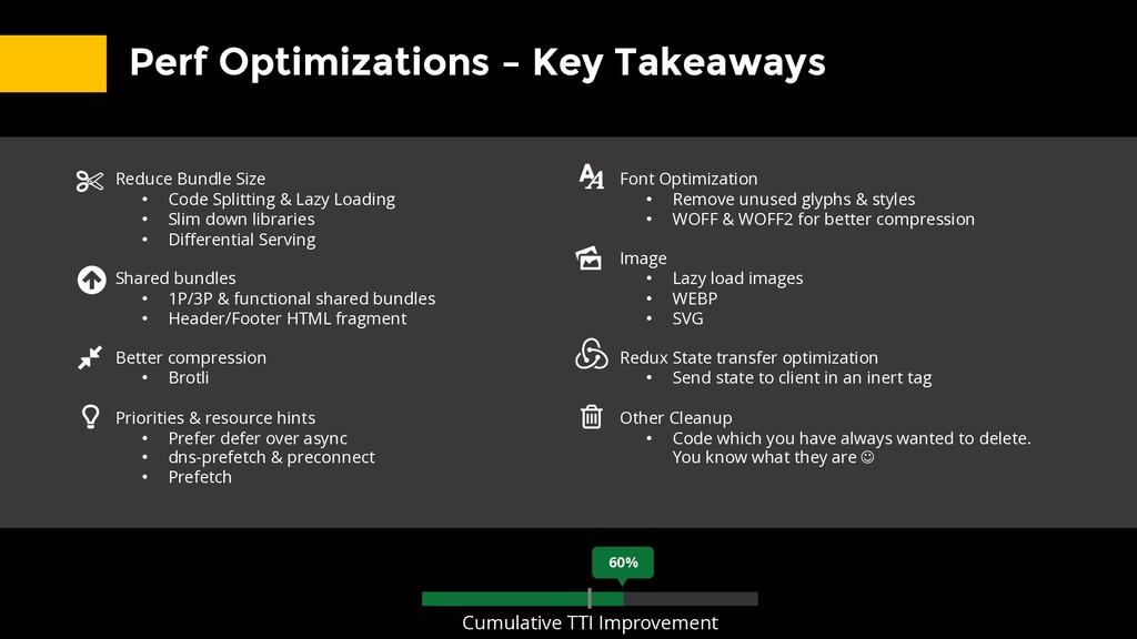 Perf Optimizations – Key Takeaways Reduce Bundl...