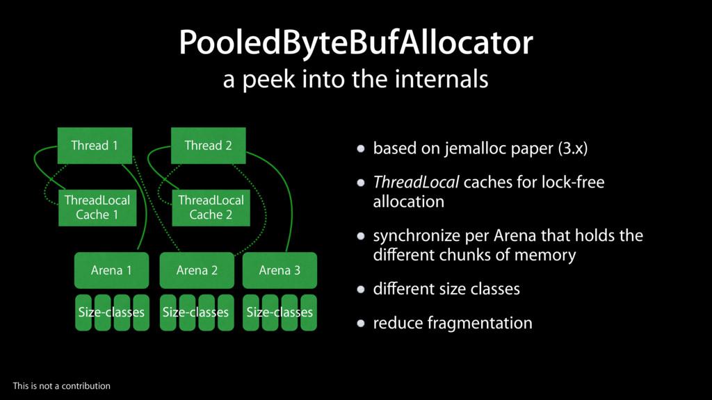 PooledByteBufAllocator based on jemalloc paper ...