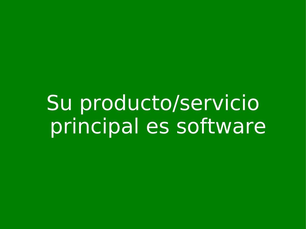 Su producto/servicio principal es software