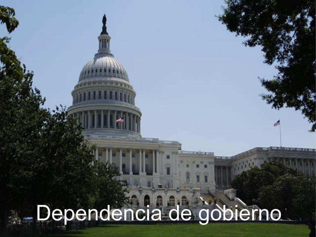 Dependencia de gobierno