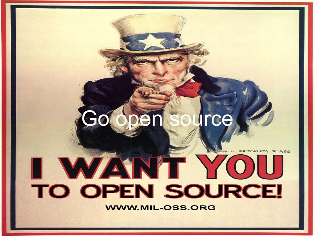 Go open source
