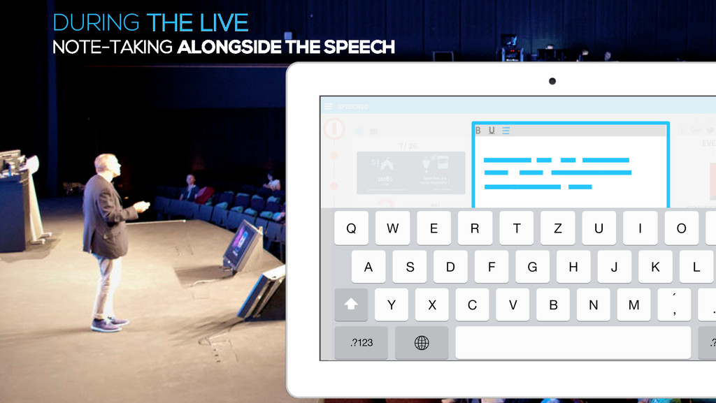 DURING THE LIVE NOTE-TAKING ALONGSIDE THE SPEECH