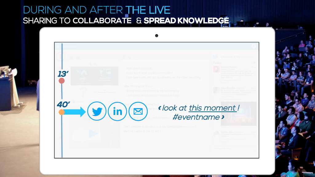 DURING AND AFTER THE LIVE SHARING TO COLLABORAT...