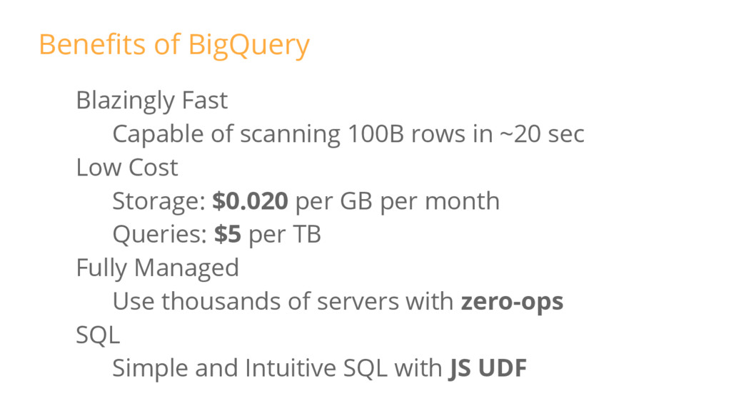 Blazingly Fast Capable of scanning 100B rows in...