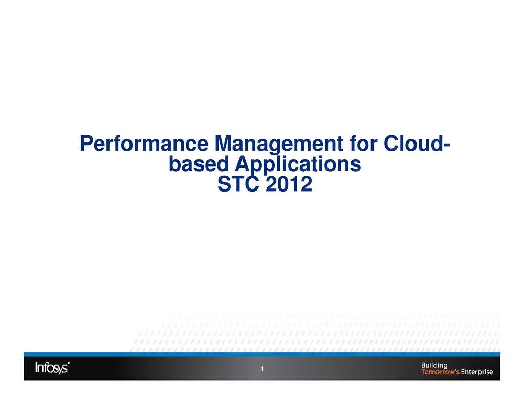 Performance Management for Cloud- based Applica...
