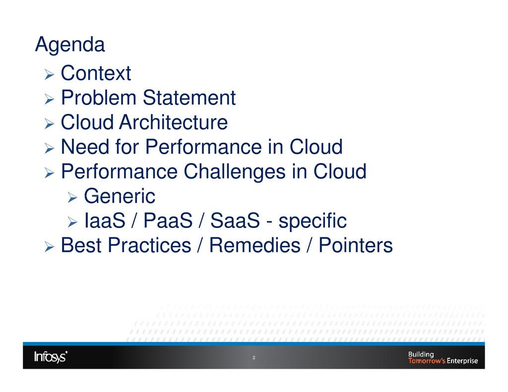 Agenda Context Problem Statement Cloud Architec...