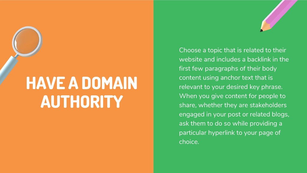 HAVE A DOMAIN AUTHORITY Choose a topic that is ...
