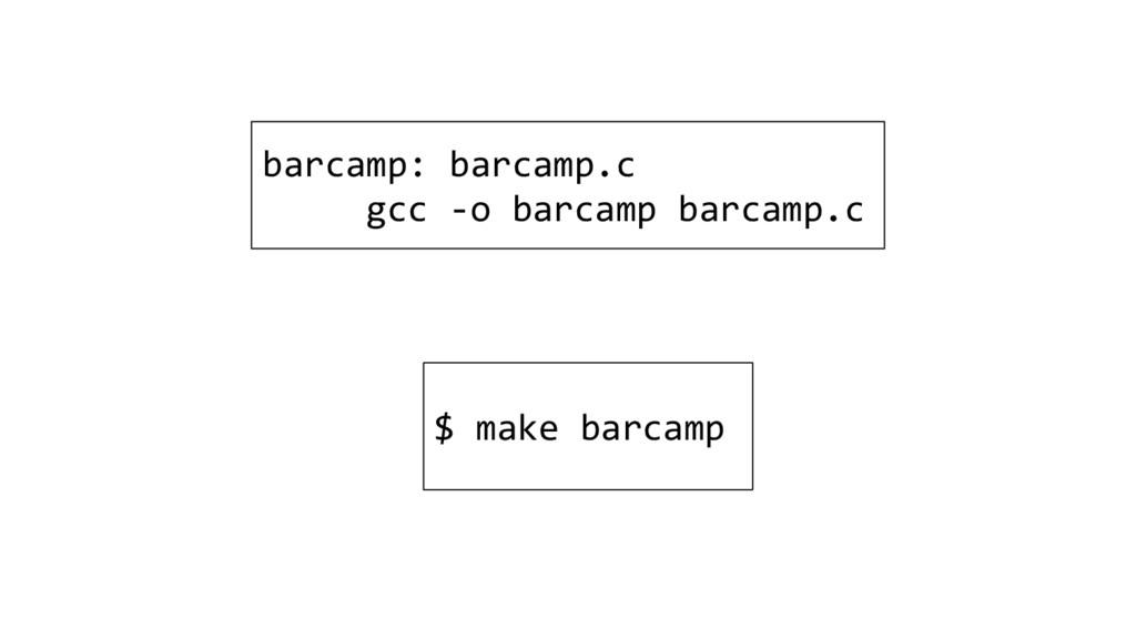 barcamp: barcamp.c gcc -o barcamp barcamp.c $ m...